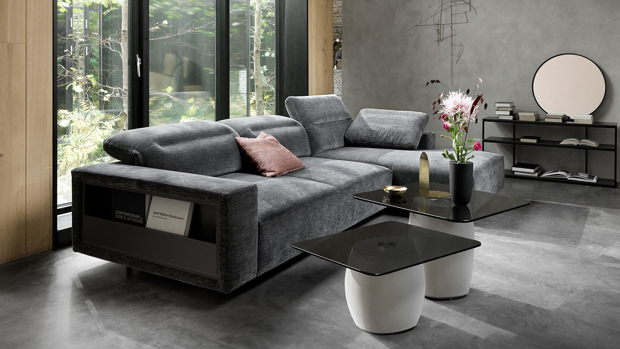 3 seater sofas - Hampton sofa with adjustable back