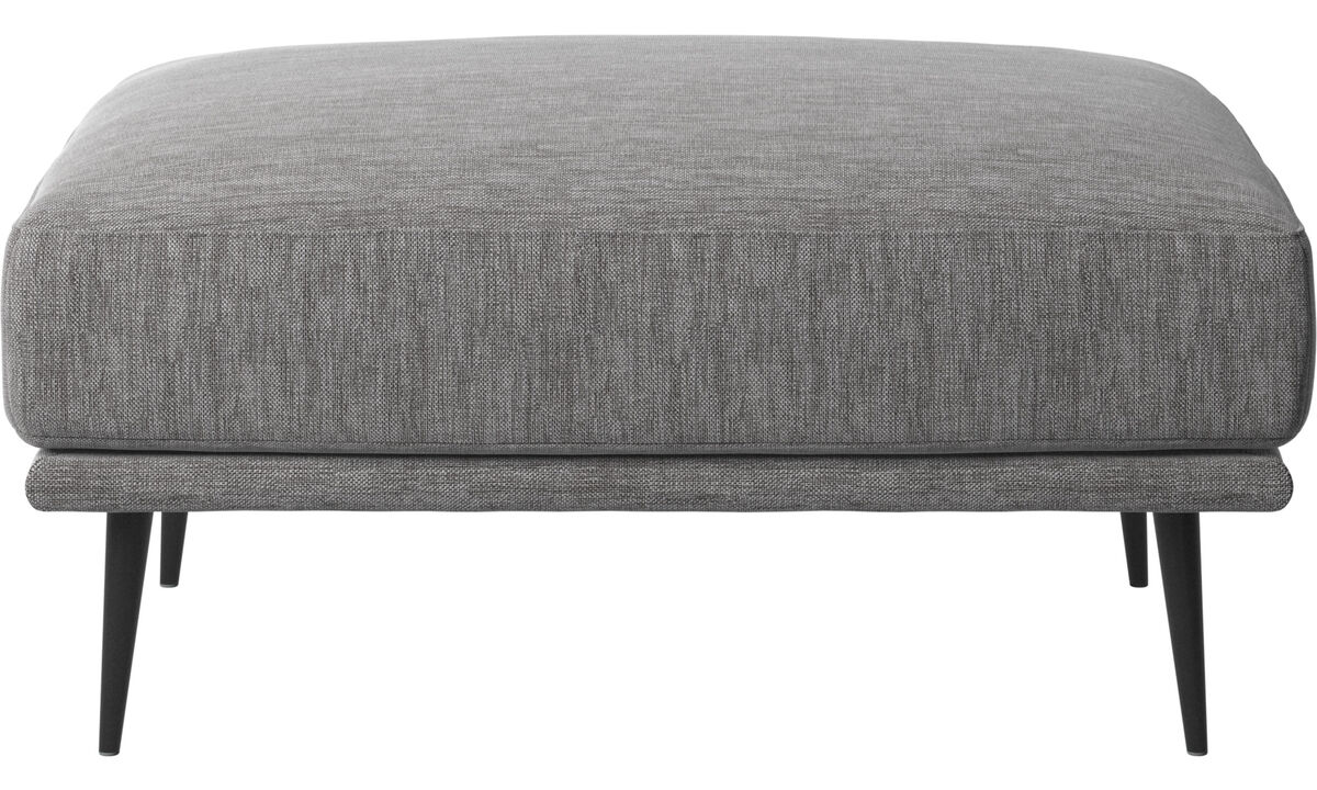 Footstools - Carlton footstool - Grey - Fabric