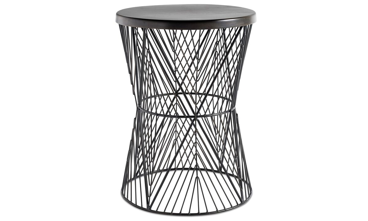 Hocker - Plain stool - Gelb - Metall