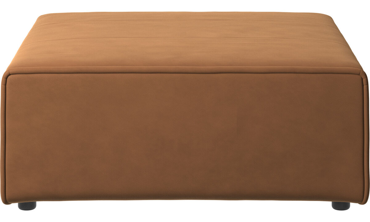Modular sofas - Carmo footstool - Brown - Leather