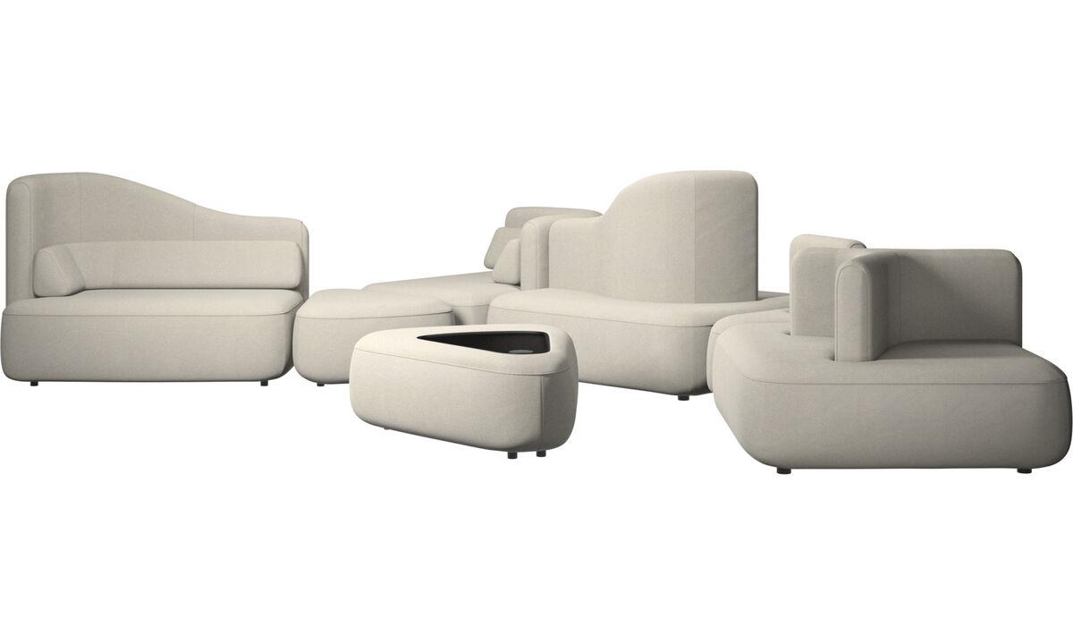Sofás modulares - Sofá Ottawa - Blanco - Tela