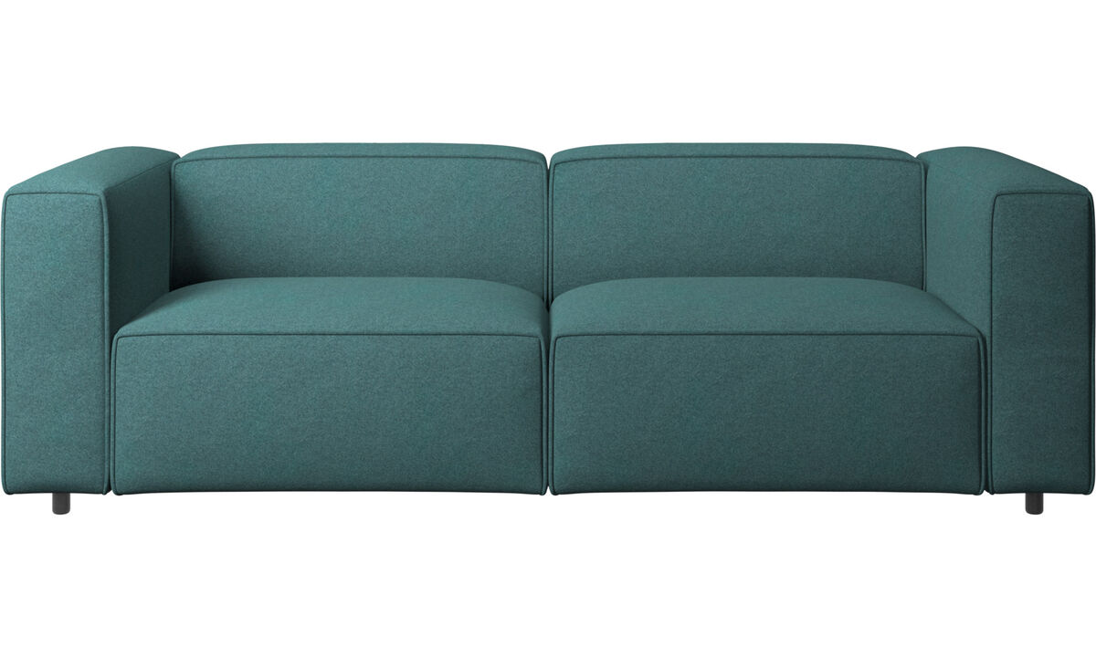 Sofás de 2 plazas y media - sofá Carmo - En verde - Tela