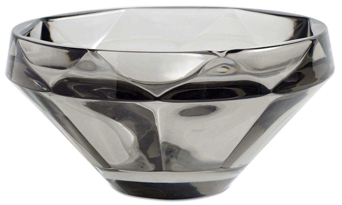 Decoración - bol Diamond - En gris - Cristal