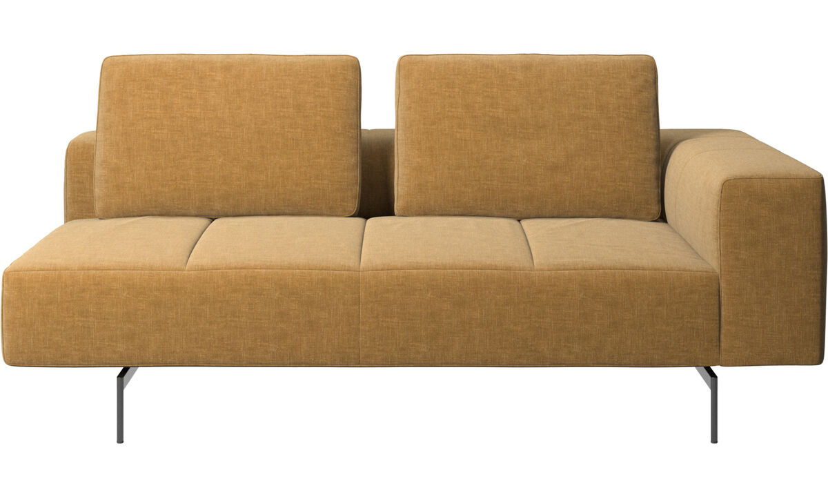 2.5 seater sofas - Amsterdam 2.5 seating module, armrest right - Beige - Fabric