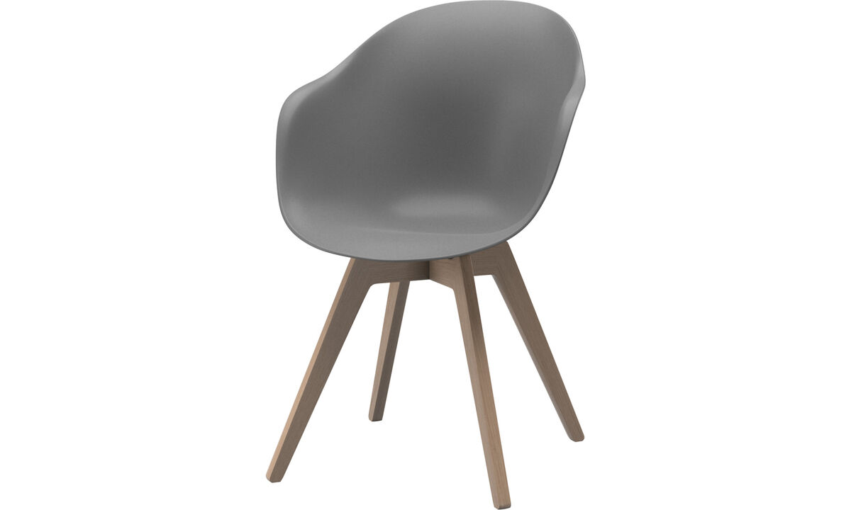 Dining chairs - Adelaide chair - Grey - Oak