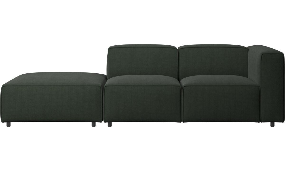 Sofás con lado abierto - Sofá Carmo con movimiento - En verde - Tela