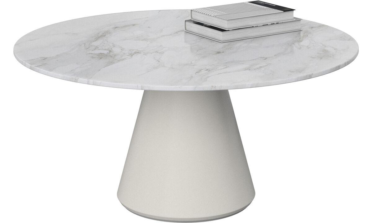 茶几 - Madrid 咖啡桌 - 圆形 - 白色 - 陶瓷