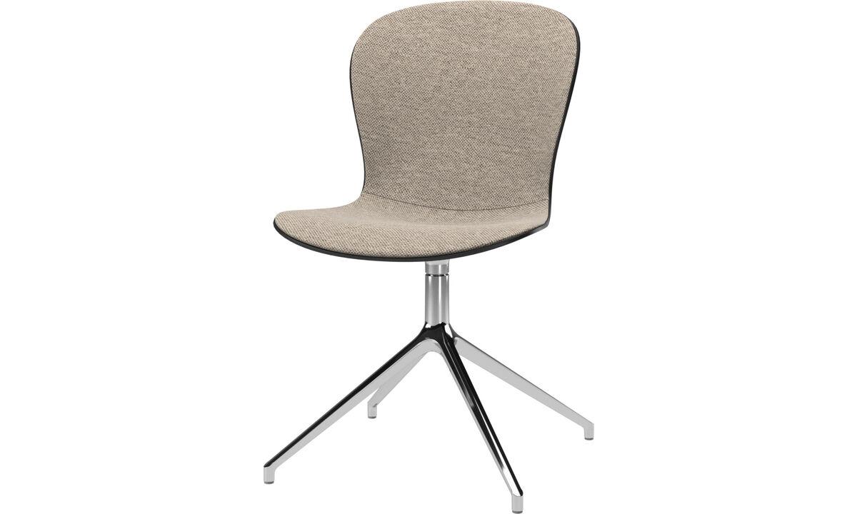 Chaises - chaise Adelaide avec fonction pivotante - Beige - Tissu