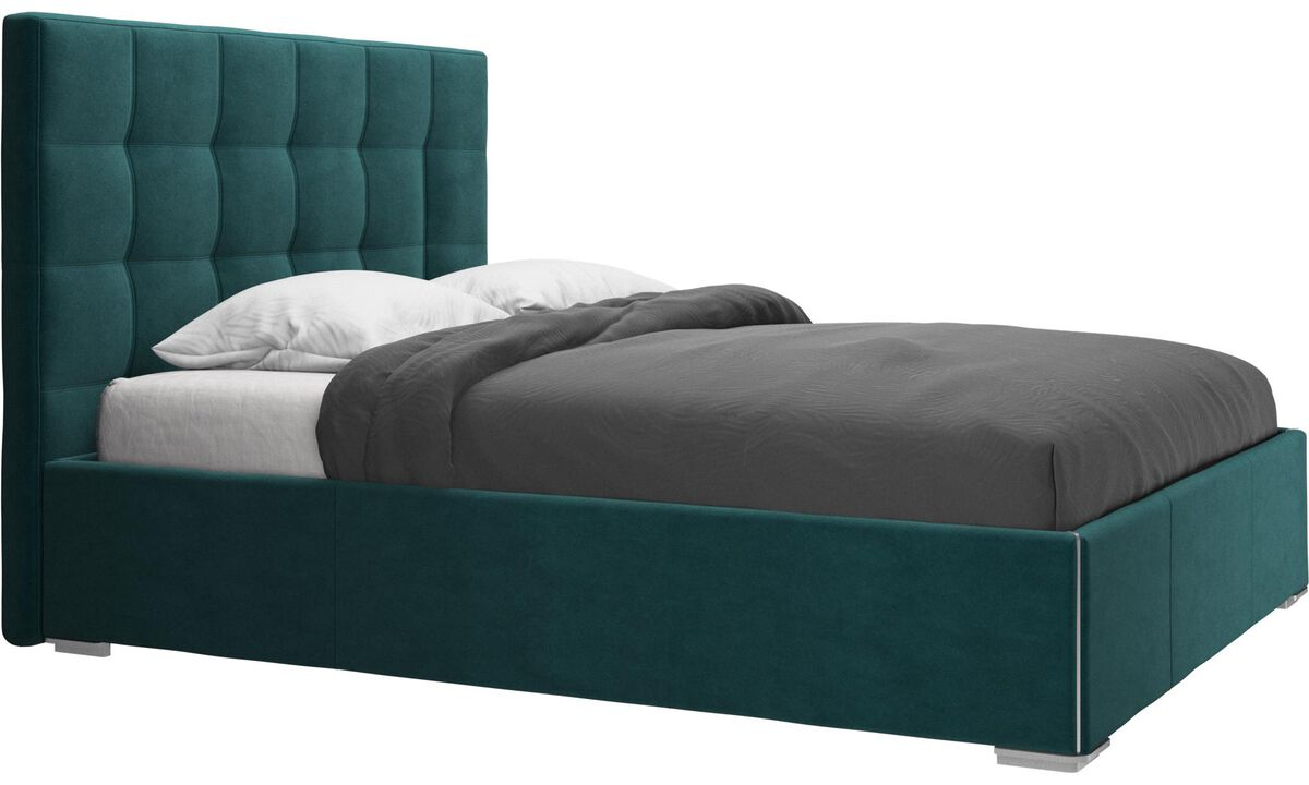 Beds - Mezzo bed, excl. slats and mattress - Blue - Fabric