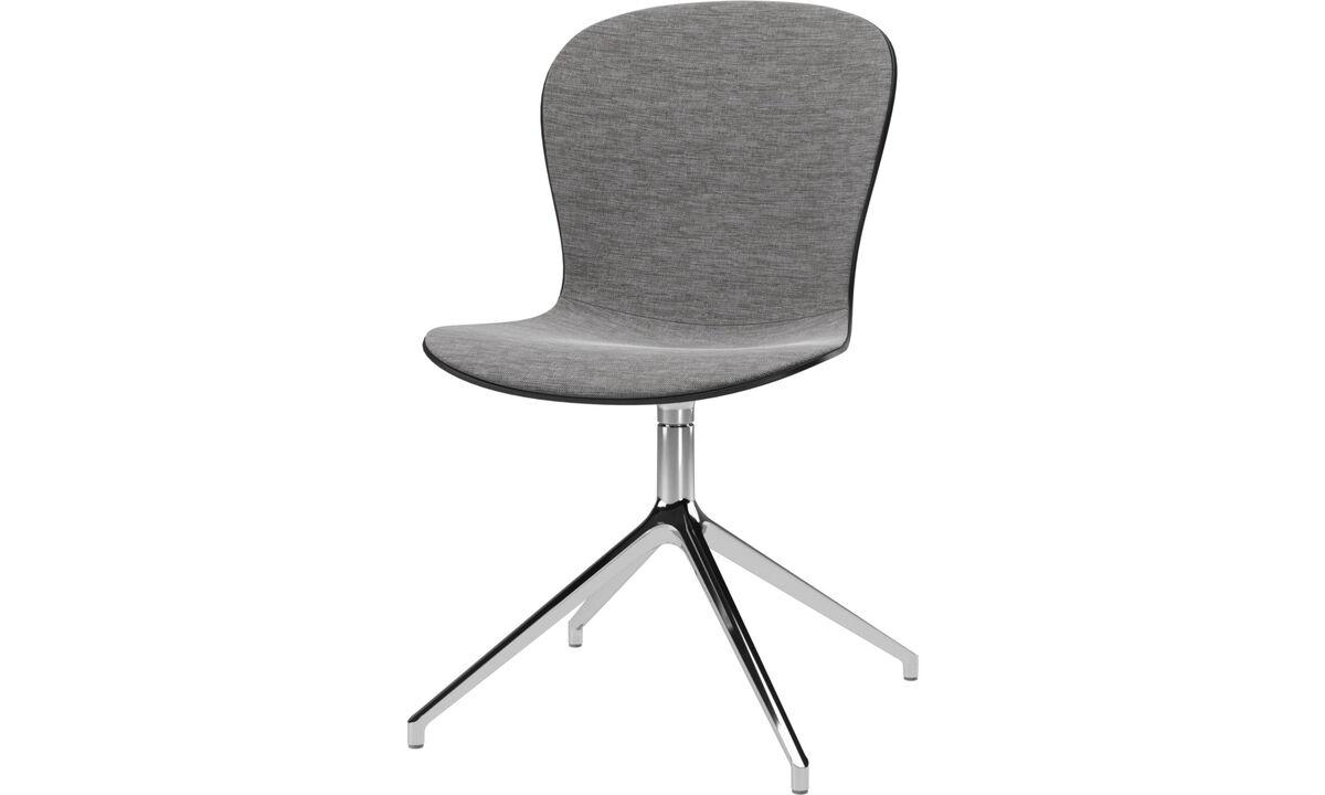 Krzesła do biura w domu - Krzesło Adelaide na obrotowej nodze - Szary - Tkanina