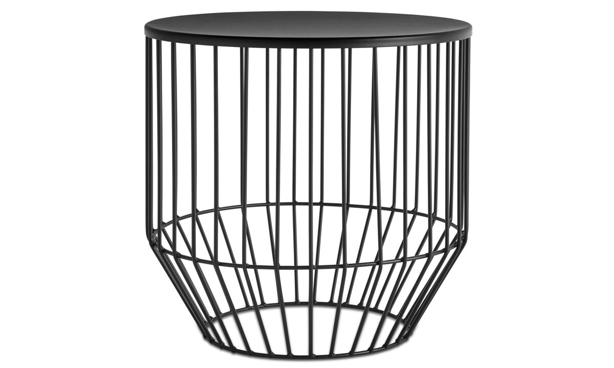 Hocker - Wire stool - Schwarz - Metall