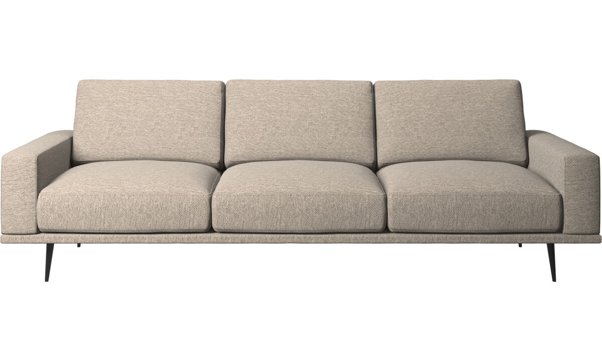 Sofy 3-osobowe - Sofa Carlton - Beżowy - Tkanina