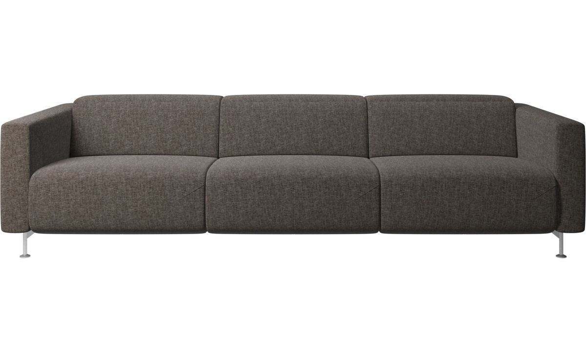 3 seater sofas - Parma reclining sofa - Brown - Fabric
