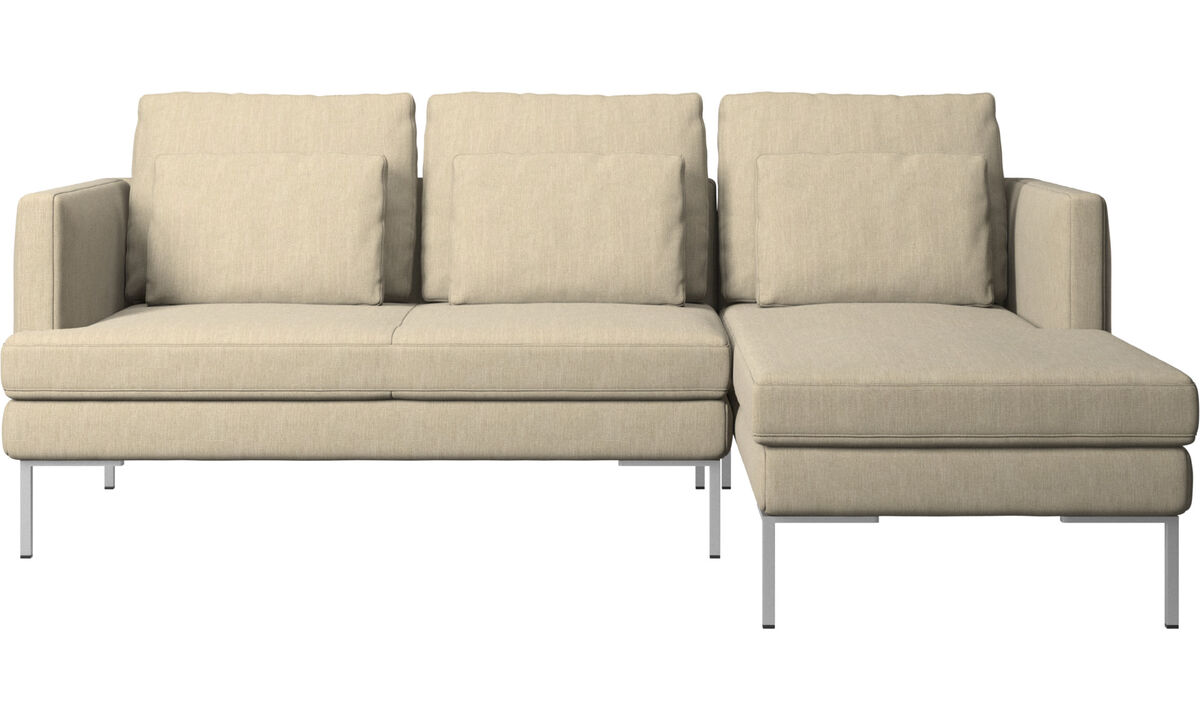 3 seater sofas - Istra 2 sofa with resting unit - Brown - Fabric