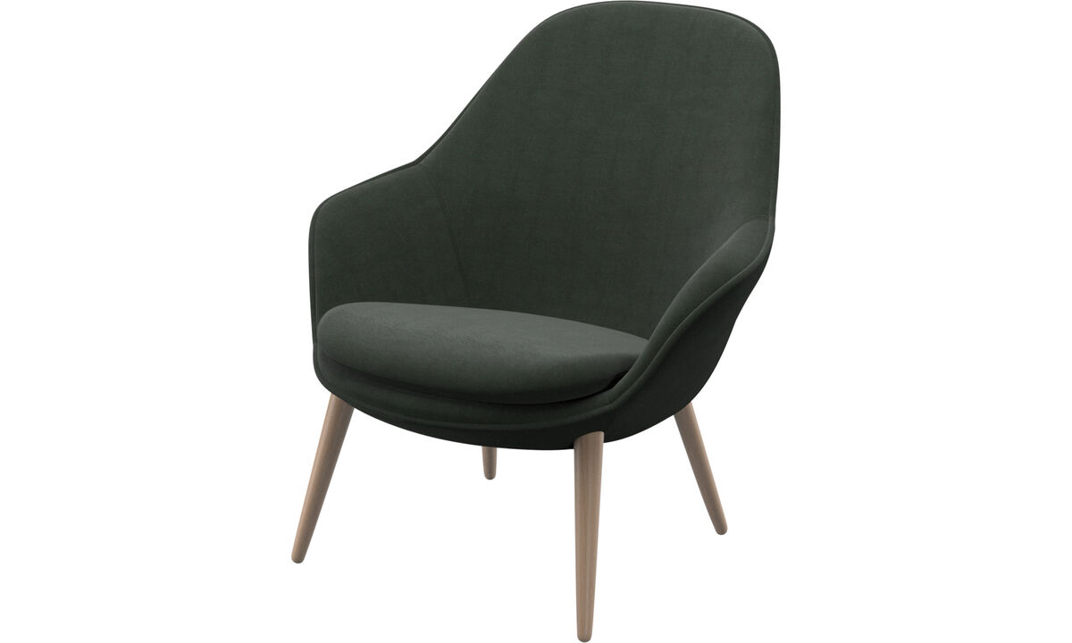 Armchairs - Adelaide living chair - Green - Fabric