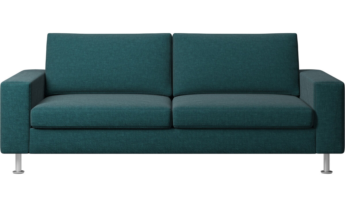 Sofa beds - Indivi 2 sofa with sleeper function - Blue - Fabric
