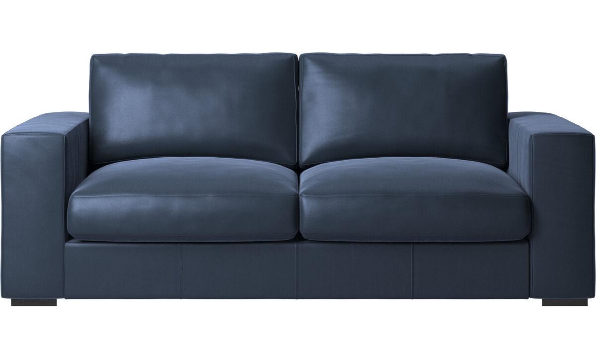 2.5 seater sofas - Cenova sofa - Blue - Leather