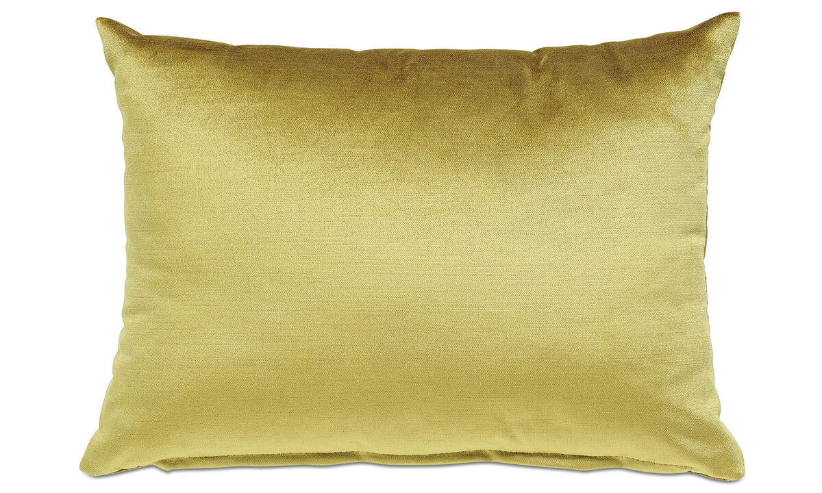Cushions - Velvet cushion - Yellow - Fabric
