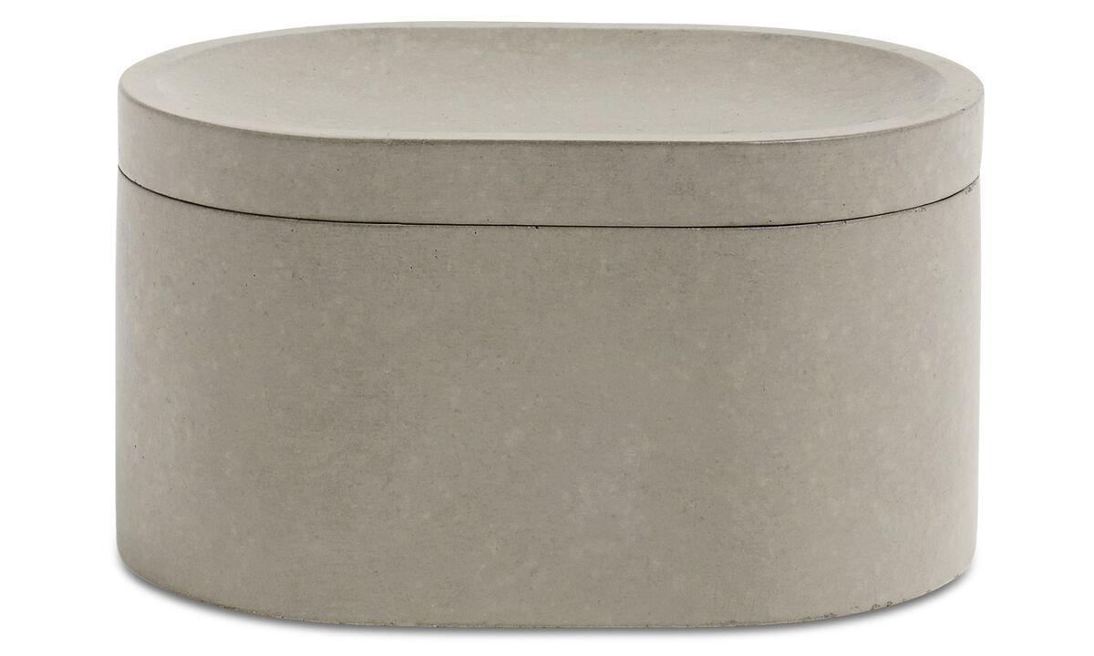 Small storage - Living jar with lid - Grey - Concrete