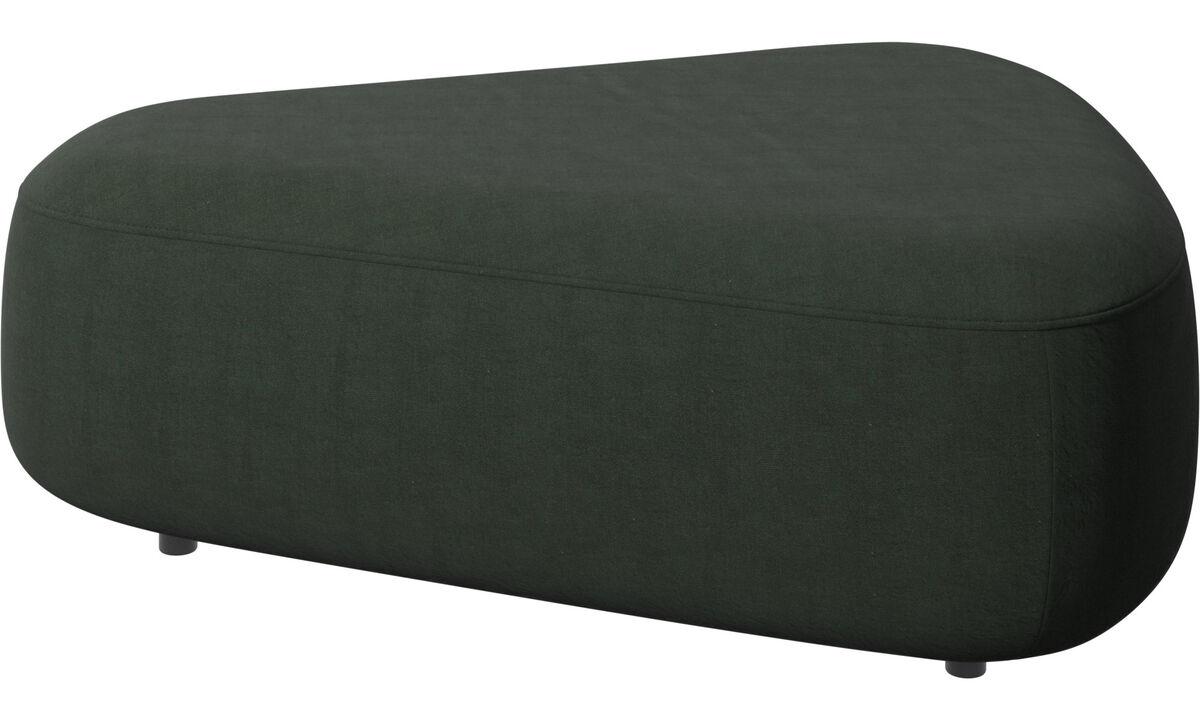 Footstools - Ottawa triangular pouf - Green - Fabric