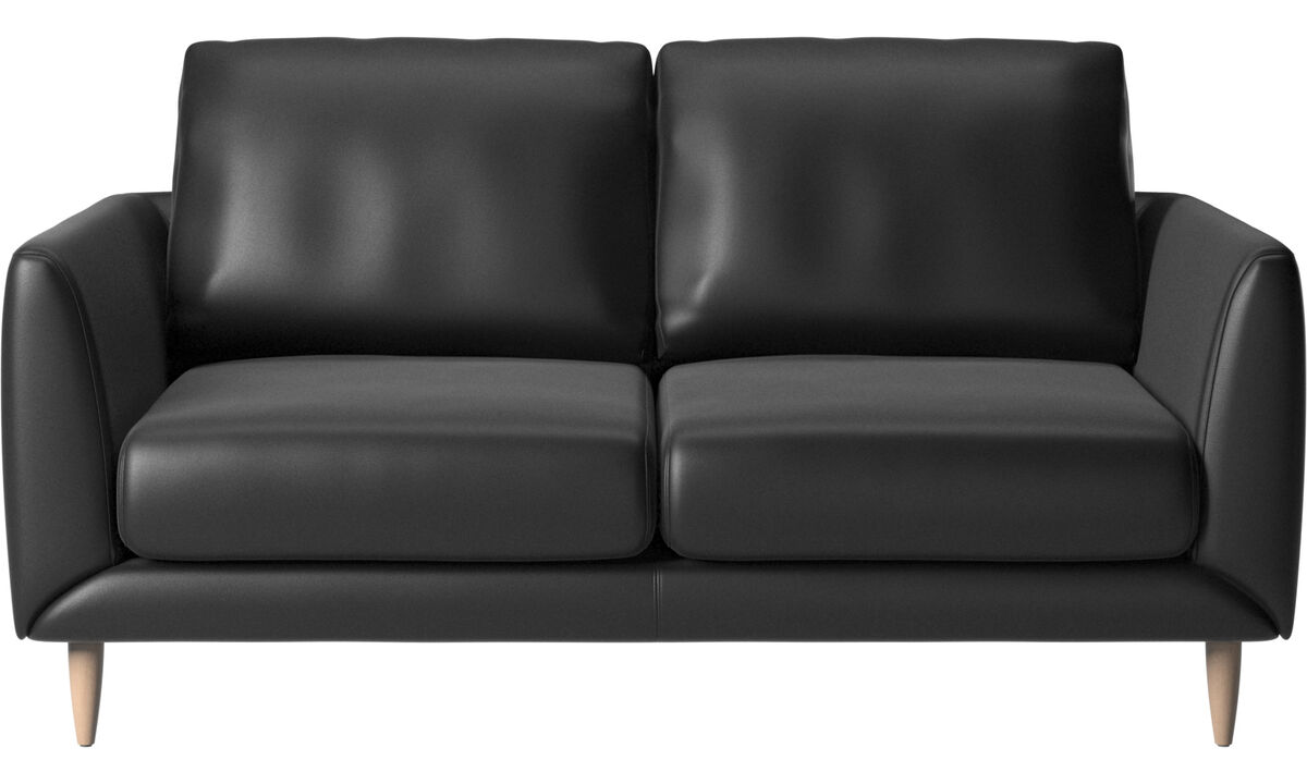 2 seater sofas - Fargo sofa - Black - Leather