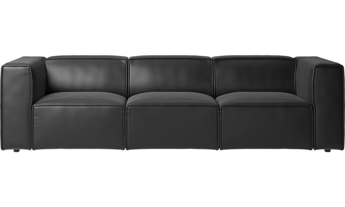 3-sitzer Sofas - Carmo Sofa - Schwarz - Leder