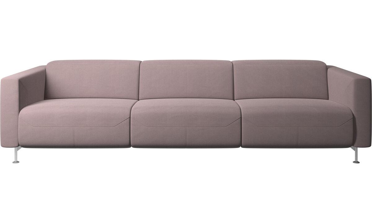 3 seater sofas - Divano reclinabile Parma - Viola - Tessuto