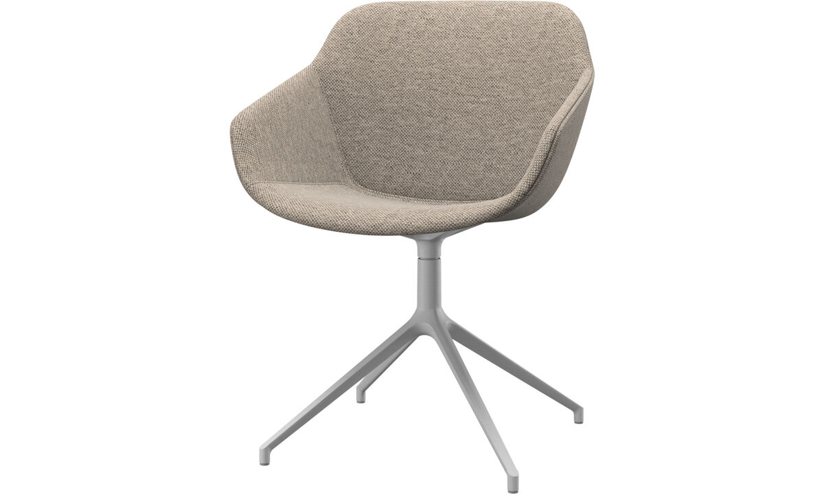 Dining Chairs Singapore - Vienna chair with swivel function - Beige - Fabric