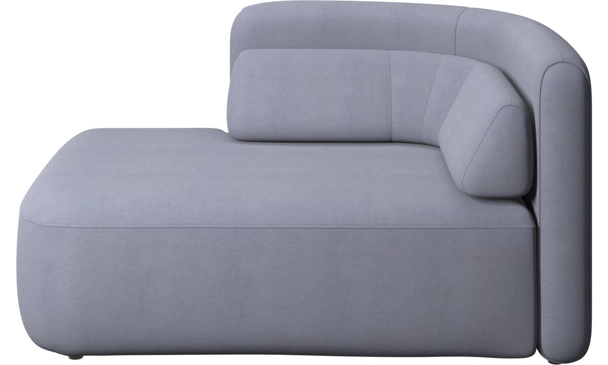 Modular sofas - Ottawa 1,5 seater open end left side - Blue - Fabric