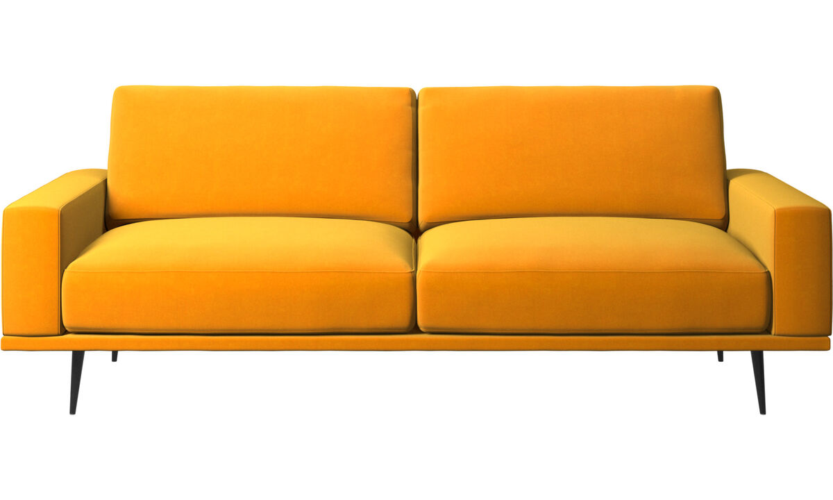 2.5 seater sofas - Carlton sofa - Orange - Fabric