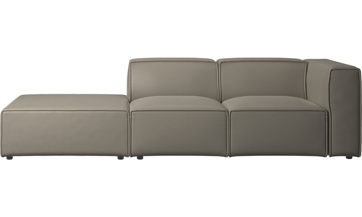 Sofas with open end - Carmo motion sofa - Grey - Leather