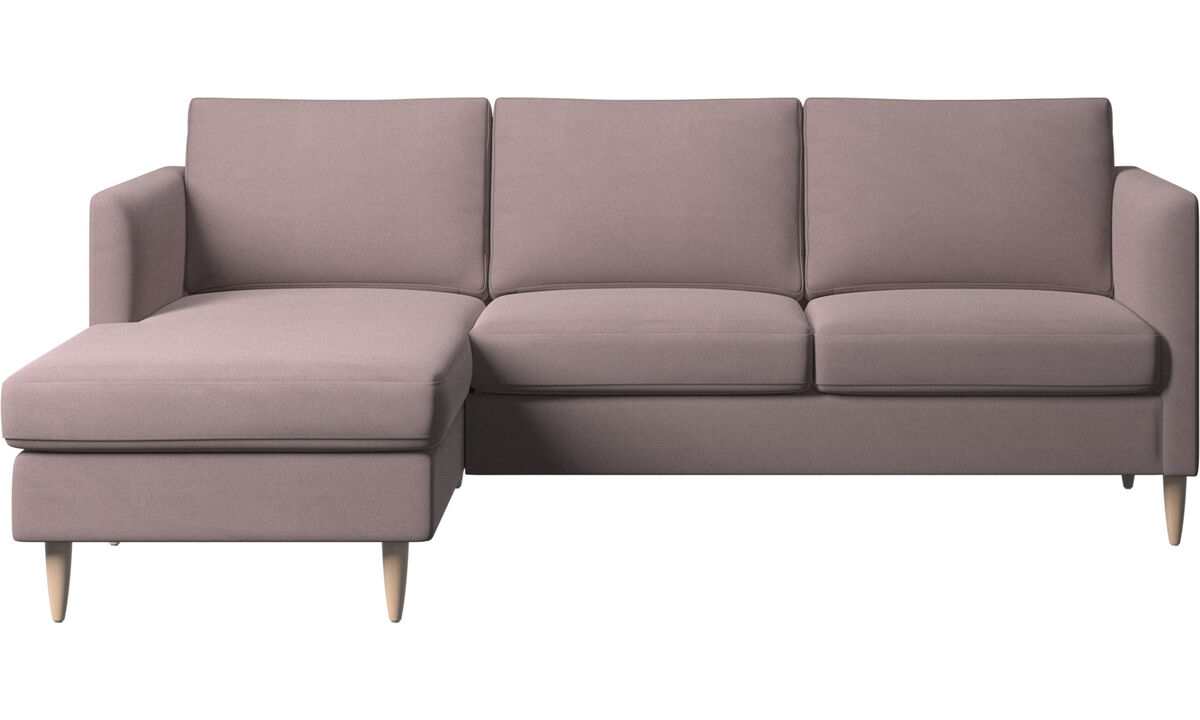 Chaise lounge sofas - Indivi sofa with resting unit - Purple - Fabric