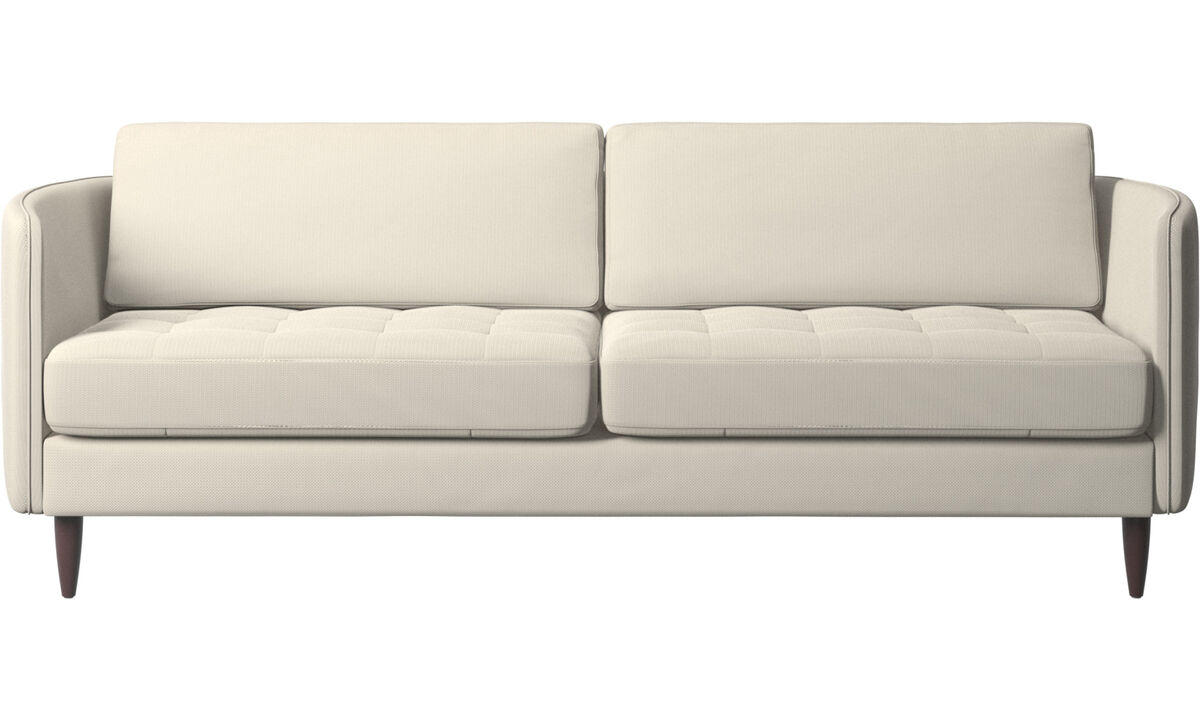 Nye designs - Osaka sofa, tuftet sete - Hvit - Tekstil
