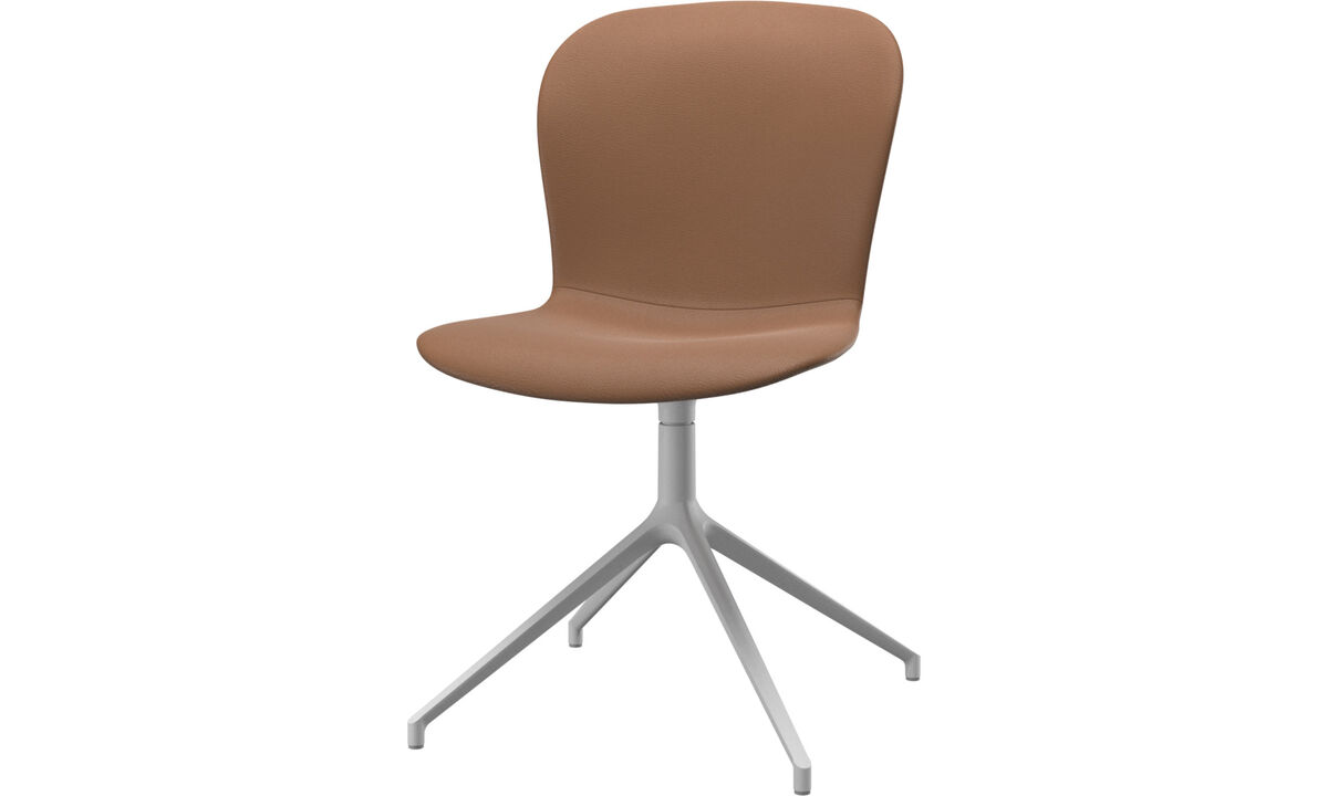 Dining Chairs Singapore - Adelaide chair with swivel function - Brown - Leather