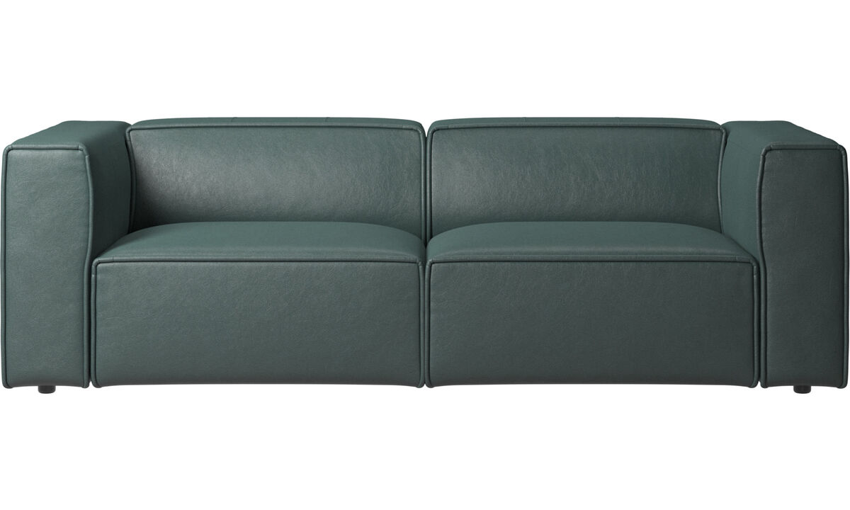 2.5 seater sofas - Carmo motion sofa - Green - Fabric