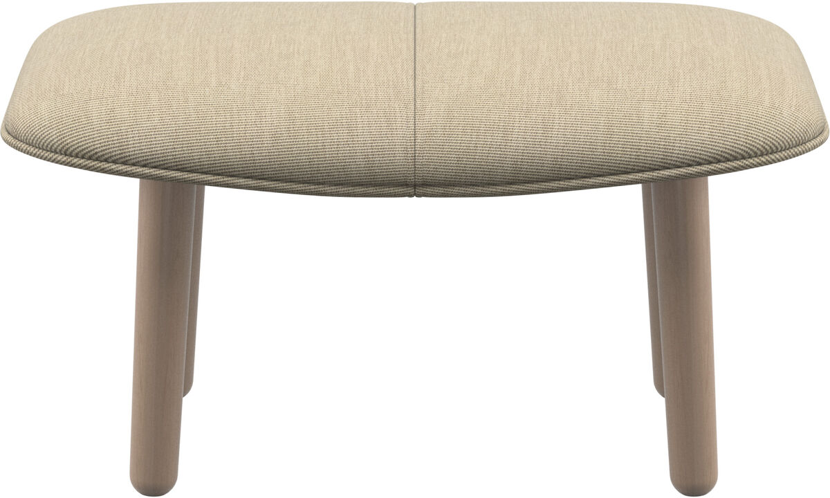 Ottomans - fusion footstool - Brown - Fabric