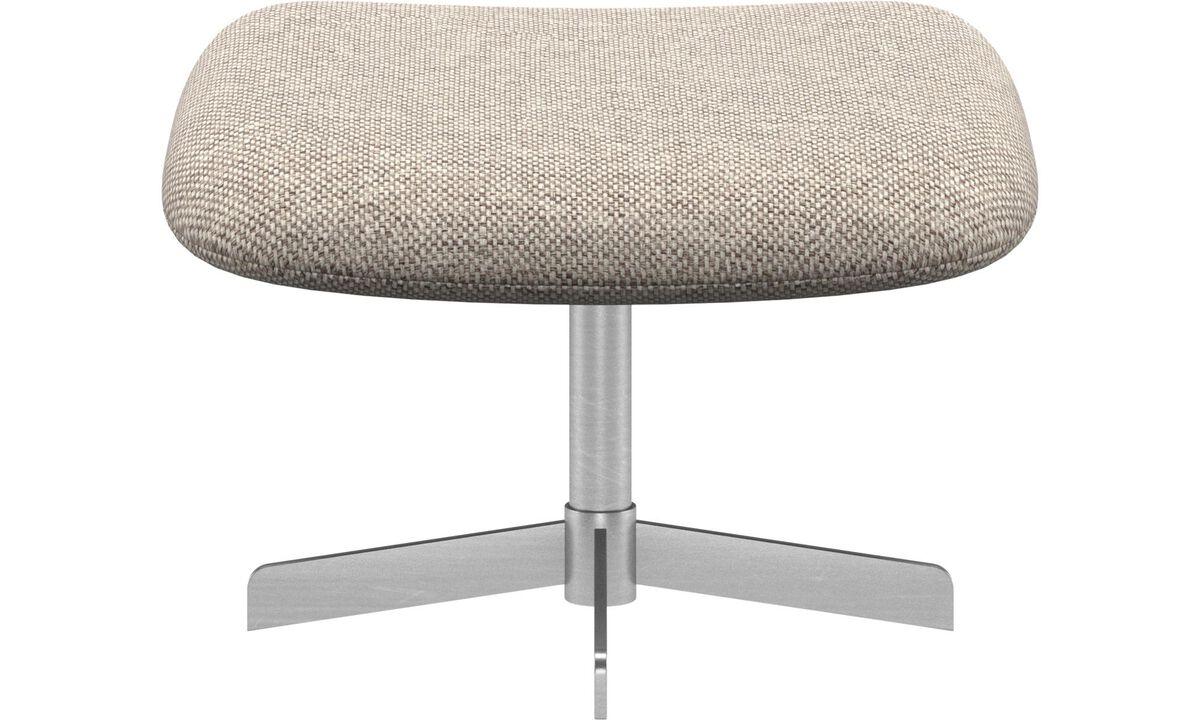 Footstools - Athena footstool - Beige - Fabric