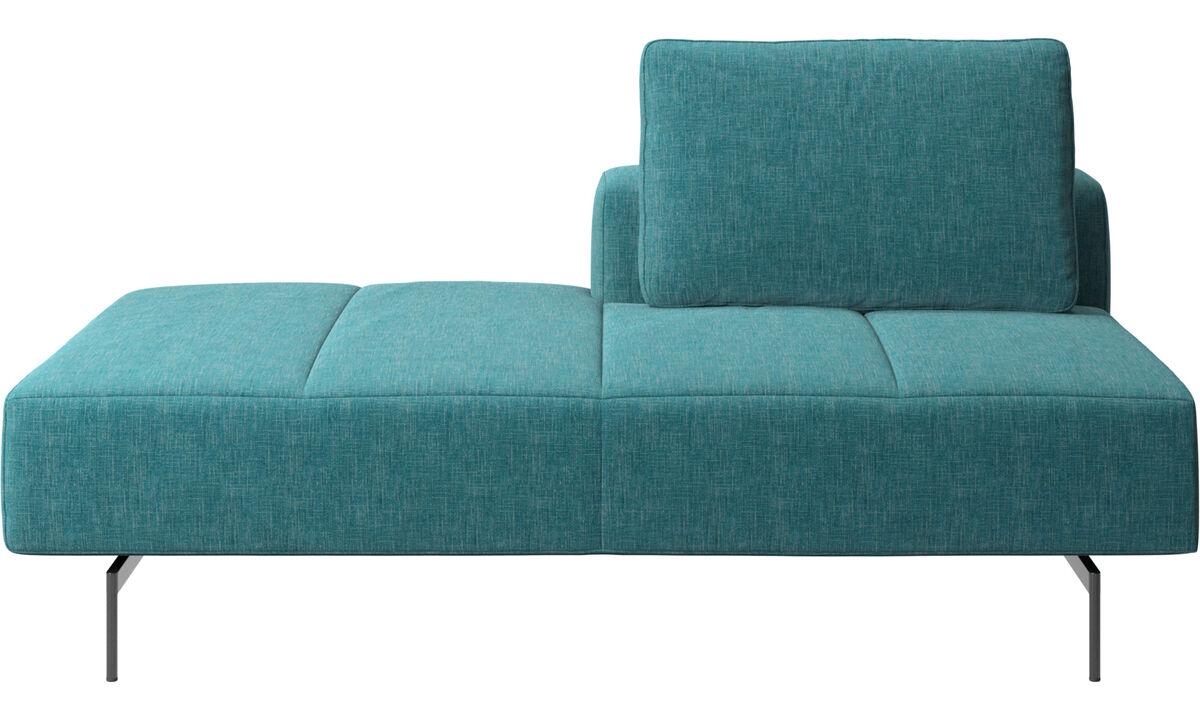 Sofas with open end - modulo lounge Amsterdam per divano, schienale destro, senza bracciolo sinistro - Blu - Tessuto