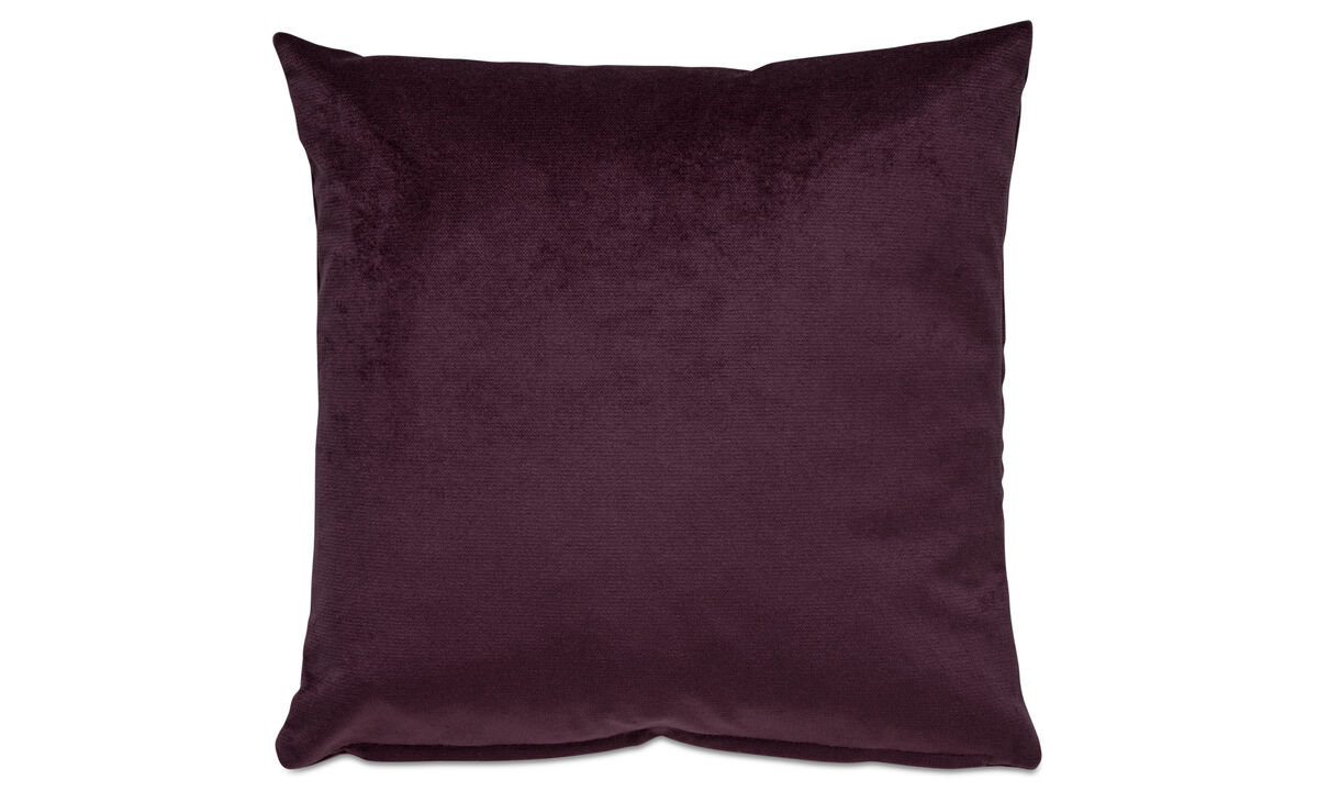 Velvet cushions - Velvet plain cushion - Purple - Fabric