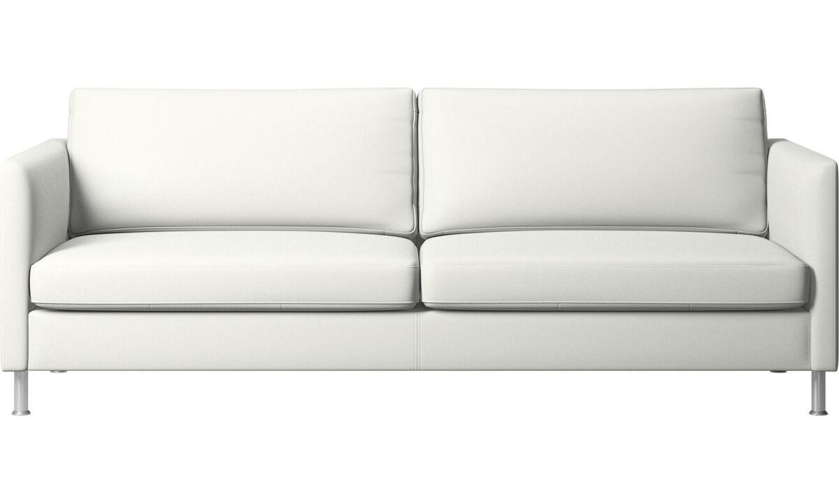 3-sitzer Sofas - Indivi Sofa - Weiß - Leder
