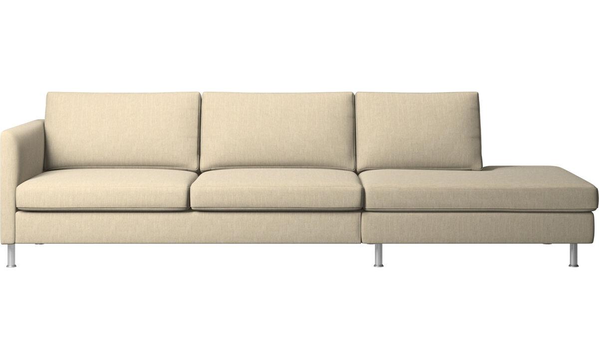 Sofás con lado abierto - sofá Indivi con módulo de descanso - En marrón - Tela
