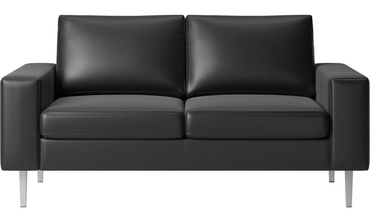 2-sitzer Sofas - Indivi Sofa - Schwarz - Leder