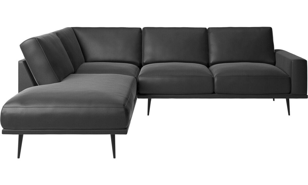 Lounge Sofas - Carlton Sofa mit Loungemodulen - Schwarz - Leder