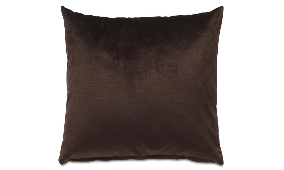 Cushions - Velvet cushion - Brown - Fabric
