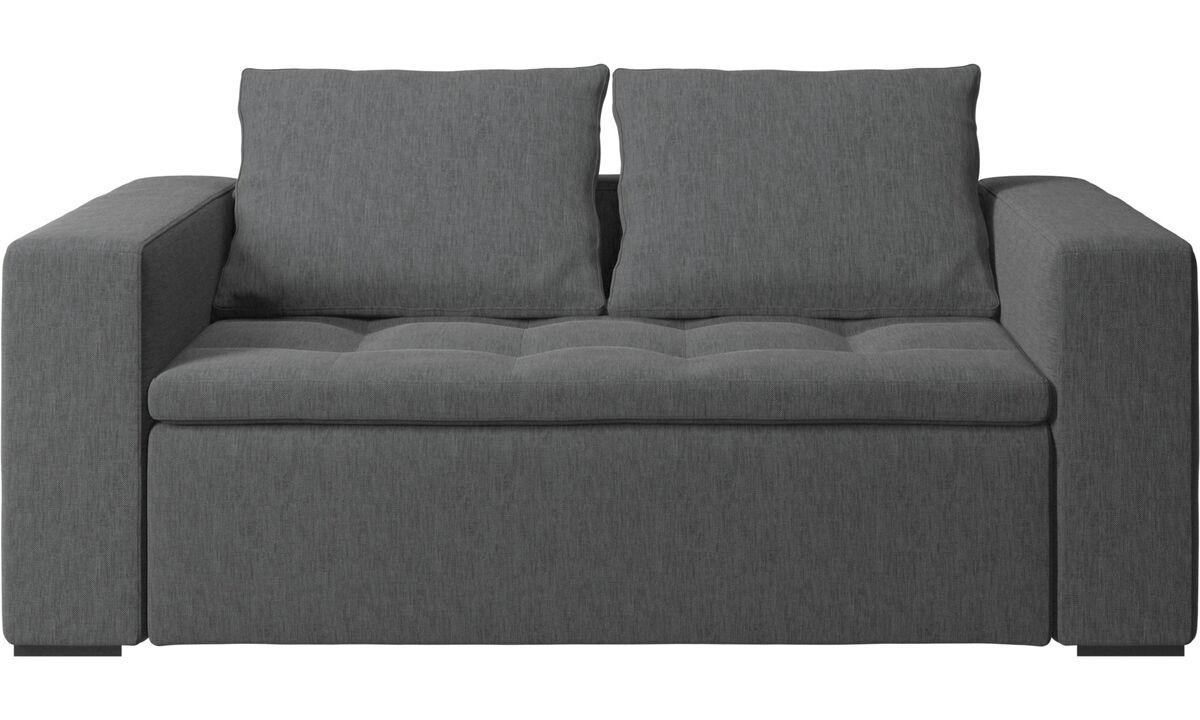 Sofás de 2 plazas - sofá Mezzo - En gris - Tela