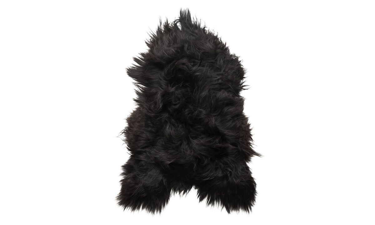 Throws & bedspreads - Sheepskin pelle di pecora - Nero - Pelle