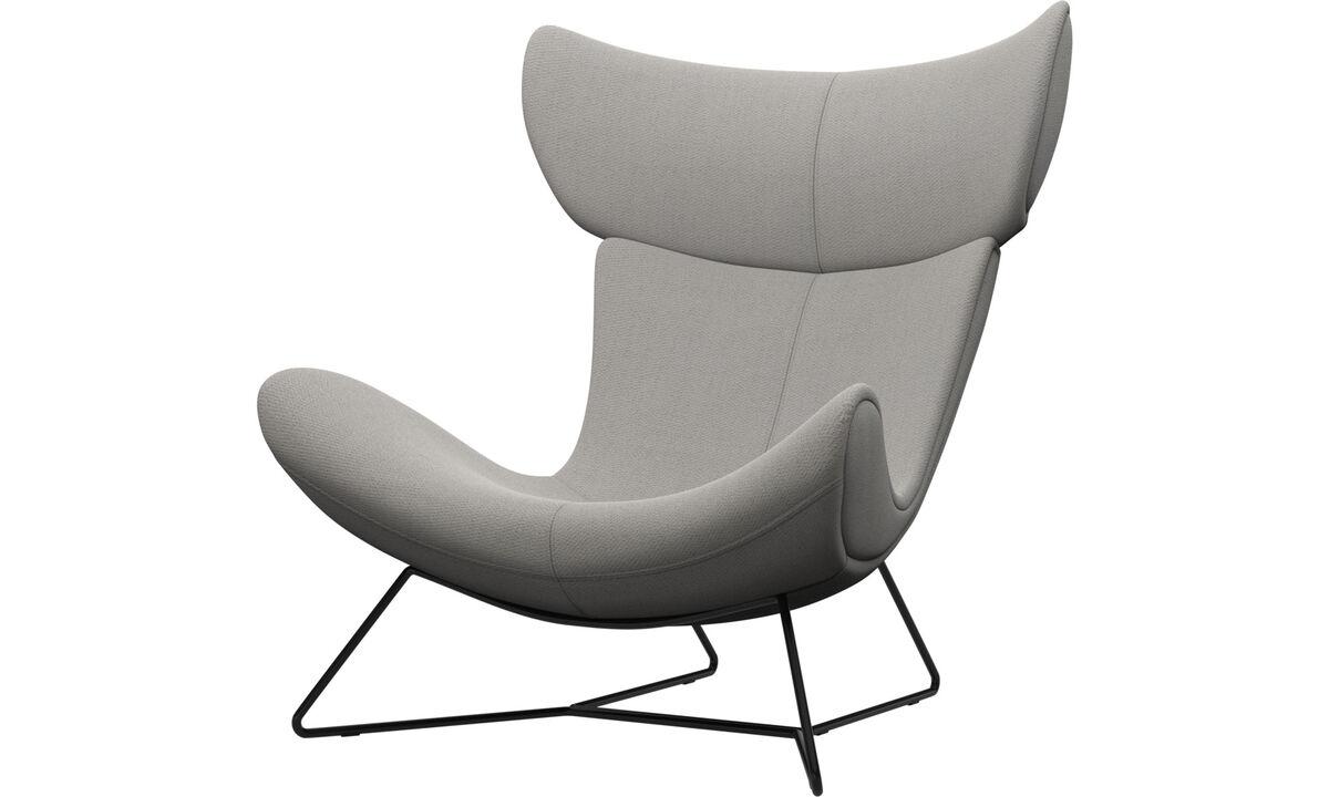 Armchairs - Imola chair - White - Fabric