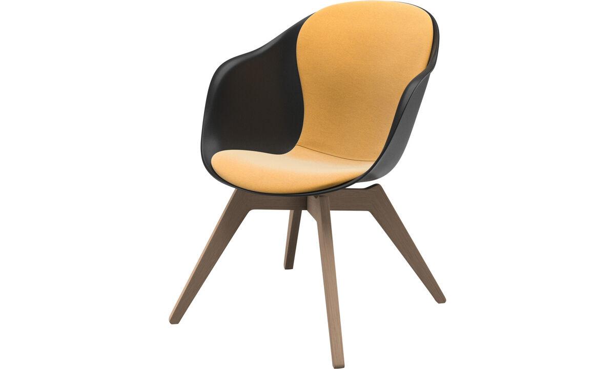Armchairs - Adelaide lounge chair - Yellow - Fabric