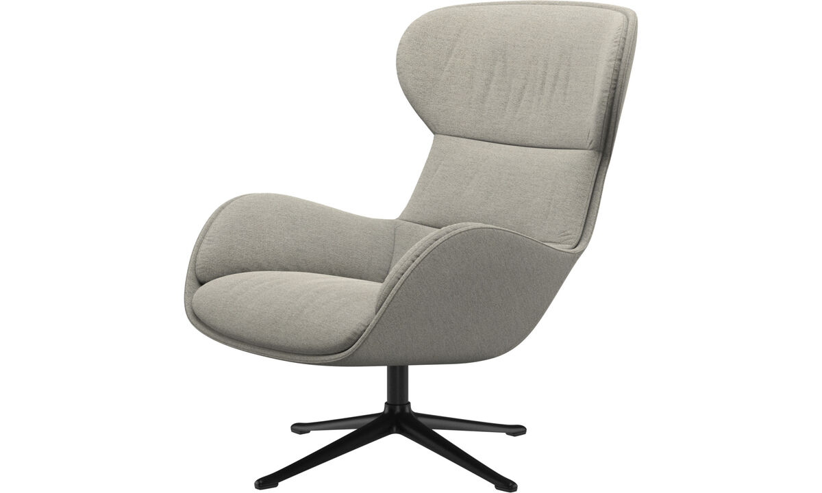 Recliners - Reno chair with swivel function - Beige - Fabric