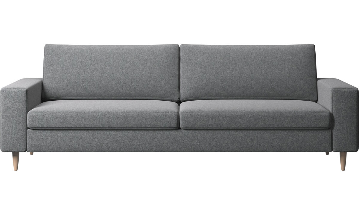 3 seater sofas - Indivi 2 sofa - Grey - Fabric